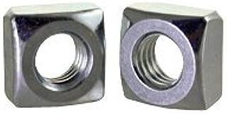 Square Nuts 130 pcs 1-8 Steel Zinc Plated
