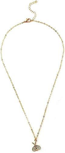 LBBYMX Co.,ltd Collar Collar de Raqueta de bádminton Personalidad Salvaje Enviar Collar de joyería de Regalo de Novia