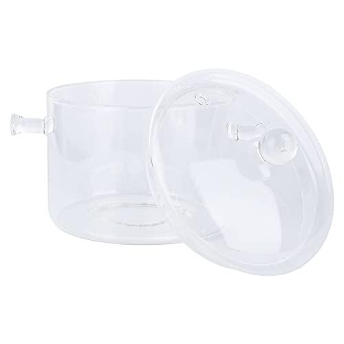 UPKOCH - Casseruola in vetro con coperchio