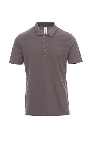 Payper Rome - Polo unisex para hombre y mujer, de manga corta, 100% algodón con efecto perlado, laterales gris ahumado