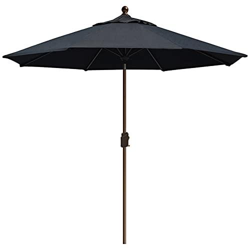 EliteShade Sunbrella 9Ft Market Umbrella Patio Umbrella Outdoor Table Umbrella with Ventilation and 5 Years Non-Fading Top,Black