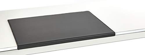 Luxentury Schreibtischunterlage Schreibunterlage Leder Kantenschutz: 60x40 cm Echtleder abgewinkelt Auflage schwarz rutschfest für Büro, USM600400