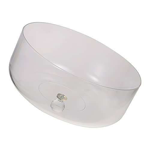 Uonlytech Cubierta de acrílico para alimentos, redonda, cubierta para tartas, campana de cristal acrílico, transparente, transparente