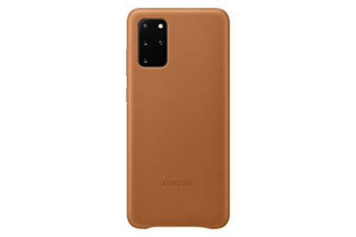 Samsung Leather Cover EF-VG985 - Back cover for cell phone - aluminum, leather - brown - for Galaxy S20+, S20+ 5G