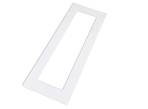 kekef Acrylglas Dekorrahmen klar 1fach 2fach 3fach 4fach, beidseitig benutzbar glänzend oder entspiegelt, Tapetenschutz Wandschutz für Lichtschalter und Steckdosen (antireflex 4-Fach)