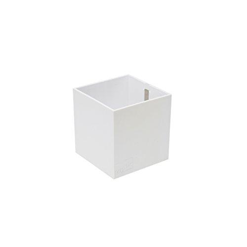 KalaMitica 60019-900-001 Récipient Magnétique Cube, Résine Abs, Couleur Blanc, Dimension 9,5 cm