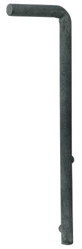 GAH-Alberts 654078 Bodenschieber für Wellengittertore, feuerverzinkt, Gesamthöhe 240 mm, ø 12 mm