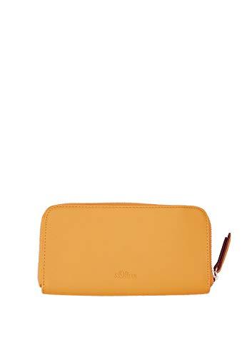 s.Oliver (Bags Damen 39.903.93.5604 Geldbörse, Gelb (Deep Yellow), 3x11x19 cm