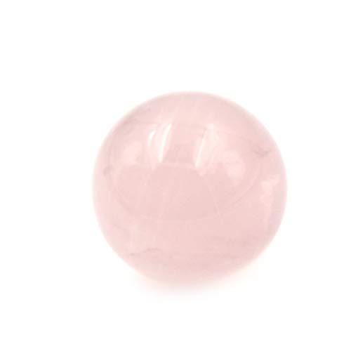 YMYGCC Dekokugel 20mm Healing Kristall Natürliche rosa Rosen-Quarz-Edelstein-Kugel-Bereich-Sammlung 77