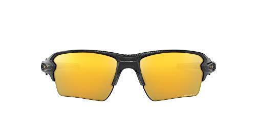 Oakley Men's OO9188 Flak 2.0 XL Rectangular Sunglasses, Polished Black/Prizm 24K Polarized, 59 mm