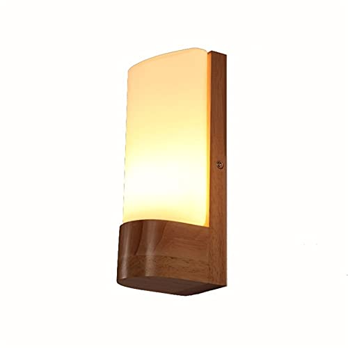 Accesorio de iluminación Lámpara de pared LED creativa Luz de pared de madera Arc Lámpara de pared de cristal de estilo japonés Lámpara de noche Lámpara de noche Lámpara de corredor E27 AC110V-240V
