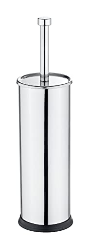 Wenko Exclusiv Escobillero WC, Acero Inoxidable, Plata Brillante, 10x10x40 cm