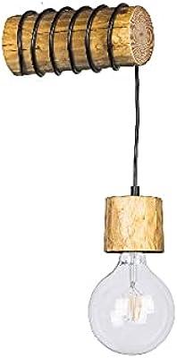 Homemania HOMBR_0294 Lampe Murale Foster-Applique, Noir, Métal, Bois 20 X 8-12 X 8-12