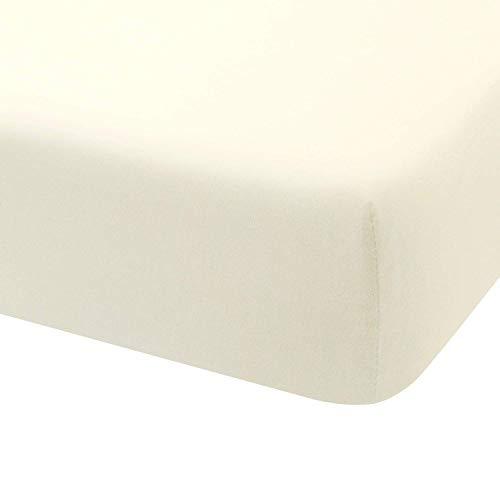 Hoeslaken Jersey 100% Katoen voor bed 180x190 / 200 ecru