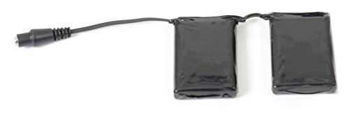 KLAN Batteria di ricambio per guanti e calze dual power, 7,4volt 3000mA.