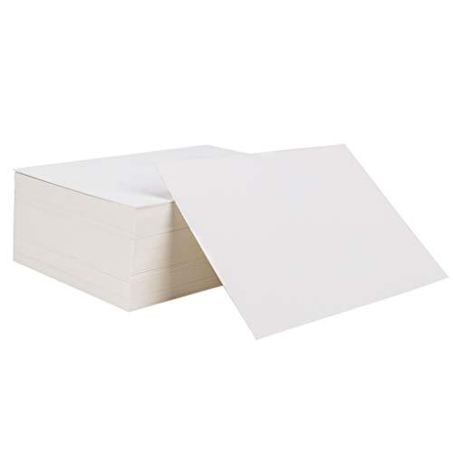 Tarjetas de Papel Blanco 100 Piezas Tarjetas para Escribir Bloc de Notas para DIY Mensaje Pintada Tarjeta de Felicitación en Blanco 14,6 x 9,7 cm