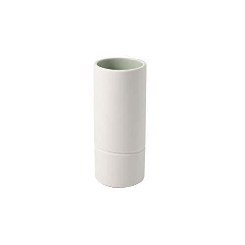like. by Villeroy & Boch 10-4275-5171 it's my home Mineral, Vase à Fleurs élégant pour compositions Florales artistiques, Porcelaine Premium, Vert, Blanc, Lavage à la Main