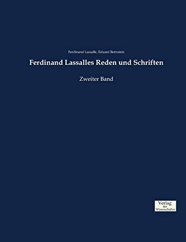 Ferdinand Lassalles Reden und Schriften: Zweiter Band