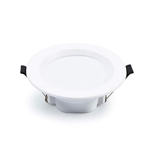 Ssydj LED Downlight Focos De Techo 12W 960LM Fresco Blanco 6000K AC 220V 1 Paquete Empotrado Luces De Techo LED Proyectores Empotrados Para Sala De Estar Cocina De Dormitorio (cáscara Redonda Blanca)