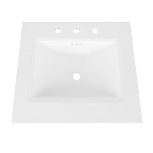MAYKKE Brighton Ceramic Bathroom Vanity Sink Top with 8