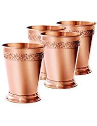 Copper Mint Julep Cups 14 oz - Gift Box Set of 4 by Elyx Boutique