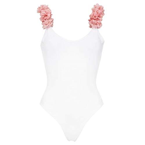 YONKINY Costumi da Bagno Bambina Costume Mare Bimba Costume Intero Fiore Completo Bikini per Mamma e Figlia Bikini Set Famiglia Costumi da Bagno (Bianco per Adulto, Small)