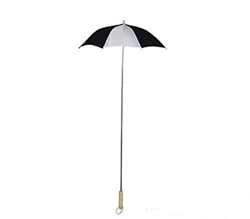 Parapluie blanc et noir - l'unité