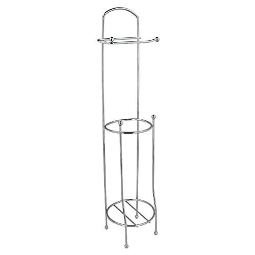ORYX Portarrollos Papel Higienico Vertical para Baño, Rollos De Reserva, 18x16x61cm.