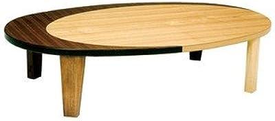 円形折れ脚座卓 ローテーブル 120巾 KURAN-120 クラン