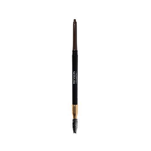 Revlon ColorStay Eyebrow Pencil with Spoolie Brush, Waterproof, Longwearing, Angled Tip Applicator for Perfect Brows, Dark Brown (220)
