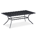Shop Garden Treasures Kingsmead 40-in W x 70-in L Rectangle Steel Dining Table at Lowes.com