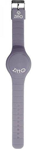 Zitto LED-Uhr mit Silikonband, Silber Grau, groß