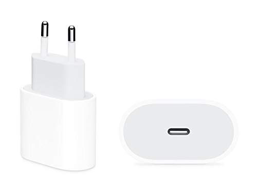 InnJoo Cargador rápido USB-C de 20 W, PD 3.0, Adaptador de Corriente para iPhone 12/12 Mini/12 Pro/11 Pro MAX SE, iPad Pro, AirPods ProType-c USB-C Fast Charger Power Delivery (Cargador)