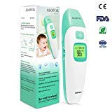 Baby Thermometer - ALOFOX Forehead and Ear Thermometer for Fever - 2 Mode and Infrared Digital Thermometer Suitable for Baby and Adults FDA and CE Approved- Green