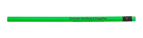 Pencil Guy Promotional Personalized Imprinted Neon Round Pencils Neon Green 144 to a box