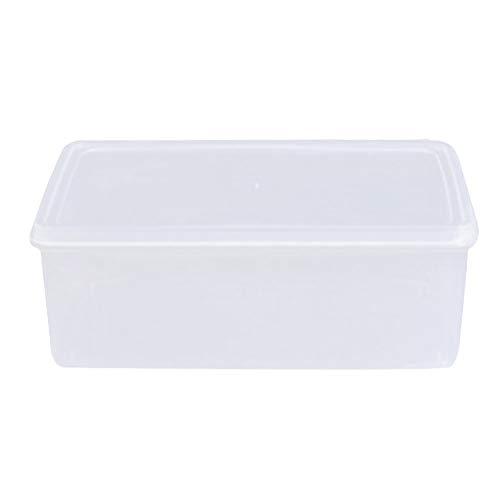 Usefulful2.1L Boîte de rangement rectangulaire en plastique transparent pour aliments secs avec couvercle pour la maison, la cuisine, le bar