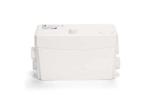 FloSoln 300WAbwasserpumpe für Dusche und Bidet, Abwasserentsorgung aus Waschtisch, Badewannen, Spülmaschinen, Waschbecken mit 3 Einlässen
