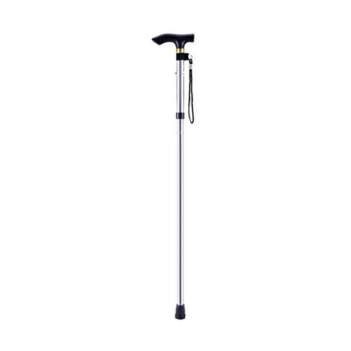 Heaviesk Bastón de Aluminio para Caminar, Cuatro Secciones, bastón, Ajustable, Plegable, Plegable,...