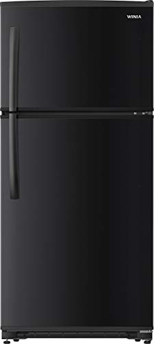 Daewoo RTE18GSBMD Top Mount Refrigerator, 18 Cu.Ft, Black