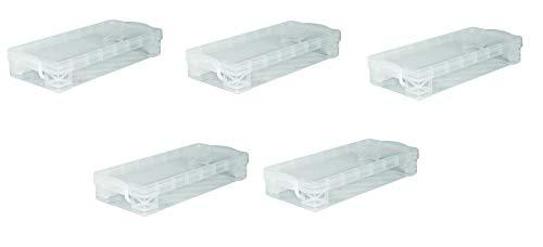 Super Stacker Pencil Box, 8.25 x 1.5 x 4 Inches, Clear, (40309) (5)