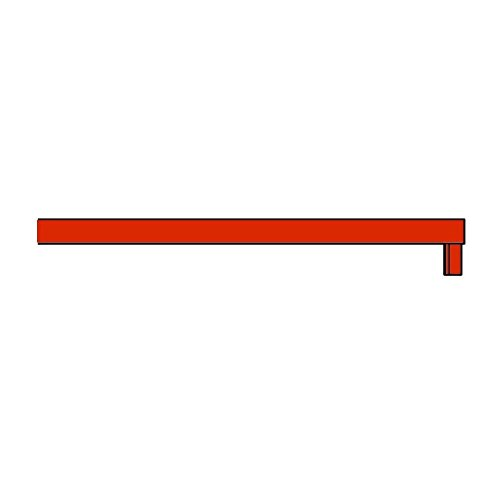 New Order Shelf Abdeckung, rot 150x34x2.3cm