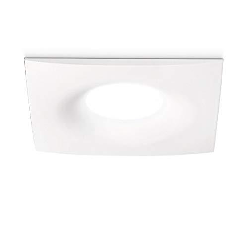 Faretto Incasso Alluminio Gea Led Gfa171 Led Spot Quadrato Bianco Opaco Moderno Interno Gu10 Ip20