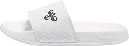 hummel Unisex-Erwachsene Pool Slide 203806 Badeschuhe, Weiß White 9001, 44 EU