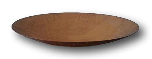 Schale ca. 40 cm aus Metall - Edelrost Rost Eisen Deko Garten Feuerschale - ca. 0,8 mm Plus kleine rustikale offene Amphore ca. 10 cm aus Terracotta