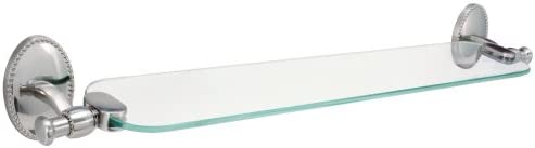 Hardware House 583088 Sheffield Glass Shelf Satin Nickel