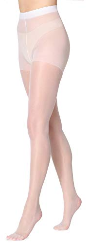 Merry Style Collant Femme 15 DEN MSFI019 (Blanc, L (Taille du Fabricant: 4))