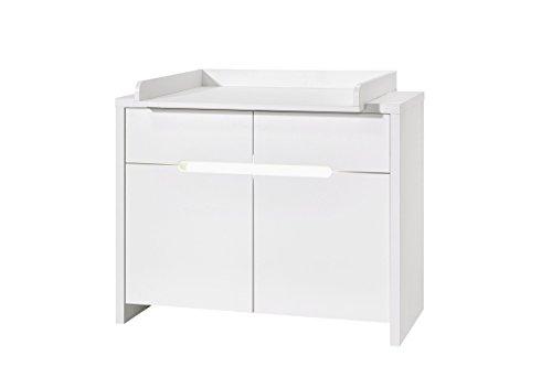 Schardt 05 940 52 02 Commode avec table à langer Poppy White