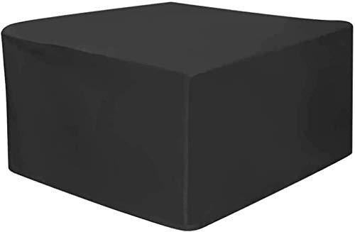 DIELUNY - Juego de fundas para muebles de jardín, 150 x 150 x 75 cm, rectangular, impermeable, resistente al viento, anti-UV, para cubo, patio, protector de muebles de exterior, color negro