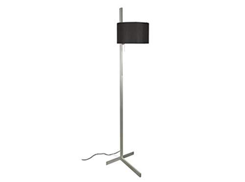 Faro Barcelona - STAND UP Pie de salón - Aluminio y negro