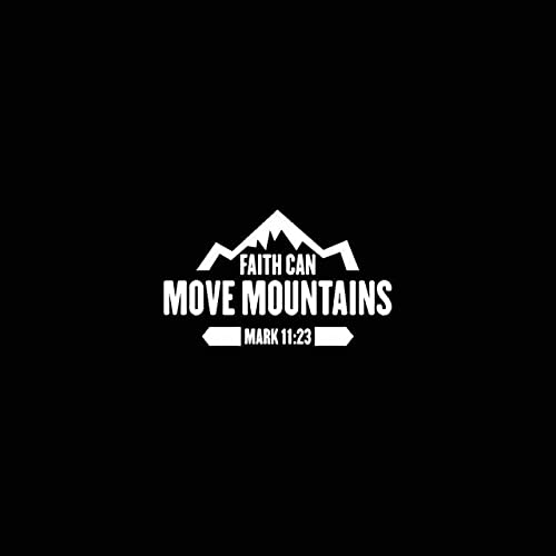 A/X 17.8CM*10.6CM JESUS FAITH CAN MOVE MOUNTAINS MARK 11:23 Vinyl Car Motorcycle Sticker Decals Black/Silver C13-000227 Silver